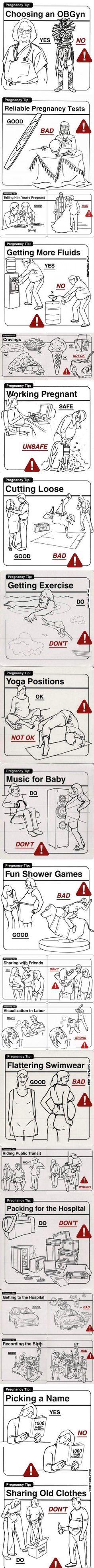 """Pregnancy """"Tips"""" hahahaha!"""