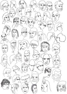 Face sketches. I find it beautiful how theyre not 'right', and yet they appear so real