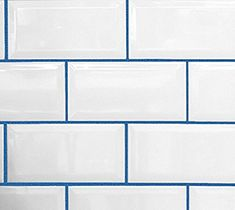 Buzzed Blue, UnSanded Grout with pigment added. Tile Grout Colors Buzzed Blue UnSanded Grout with pigment added. Grout Stain, Tile Grout, Tiling, Blue Tiles, White Tiles, Home Design, Coloured Grout, Bathroom Kids, Bath