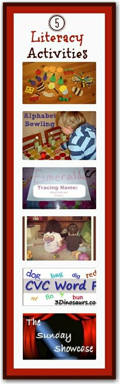 5 literacy activities - fun ways to learn through play