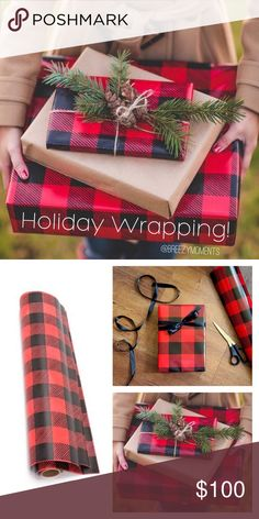 """For $5, when you shop my closet, I wrap for you! Now offering a HOLIDAY WRAPPING SERVICE!  Sending a NWT gift to a friend/relative? For an extra $5, I will wrap and ship for you!   What's included?  - Buffalo plaid wrapping paper - Twine ribbon - Pine bough  - Personalize note from you (Comment what you want it to say! - Packaged with ❤️ and care  - Delivered straight to recipient (Put in THEIR ADDRESS!) - Complete with """"Don't open until X-Mas"""" warning 😉   *Offer valid now - Dec 18th  *Only…"""
