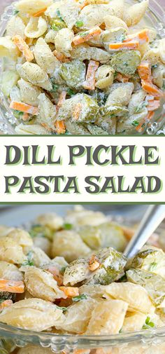 Calling all dill pickle lovers, this salad recipe is for you! This creamy Dill Pickle Pasta Salad is THE BEST and has the tangy flavour of crunchy pickles, fresh dill, cheese, mayo and sour cream. It's the perfect side for any BBQ or summer meal. Best Pasta Salad, Pasta Salad Recipes, Food Salad, Summer Pasta Salad, Picnic Salad Recipes, Healthy Pasta Salad, Easy Summer Meals, Summer Recipes, Summer Meal Ideas