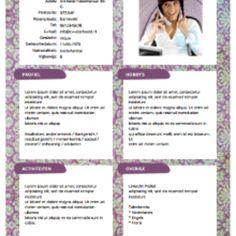 Gratis CV sjabloon van .cv voorbeeld.nl | Gratis CV sjablonen