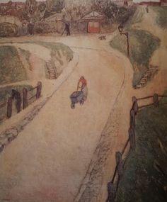 1917 env. Paysage de Banlieue situé à Paris_Huile_Collection particulière