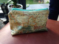 Trousse à tout -Toile enduite carte du monde - Linna Morata