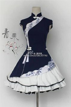UPDATE: the ~Navy Blue~ sample dress of QingHe +~Flowers Blooming~+ Qi Lolita Dress is now available for viewing >>> www.my-lolita-dre… Pretty Outfits, Pretty Dresses, Beautiful Dresses, Cool Outfits, Kawaii Fashion, Cute Fashion, Trendy Fashion, Style Fashion, Fashion Women