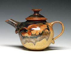Small Stoneware Teapot, Pottery Teapot, Ceramic Teapot, Hand Thrown Teapot