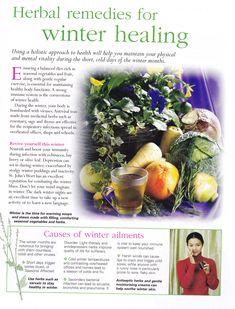 Herbal remedies for Winter healing