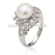 Fabulous Design Three Color Freshwater Pearl Wedding Ring(China (Mainland))