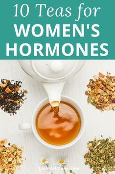 These 10 teas for balancing women's hormones will help you no matter what your symptoms are. Includes an easy hormone balancing tea recipe that you can use. Équilibrer Les Hormones, Foods To Balance Hormones, Balance Hormones Naturally, Female Hormones, Natural Health Remedies, Herbal Remedies, Healthy Drinks, Healthy Tips, Healthy Recipes