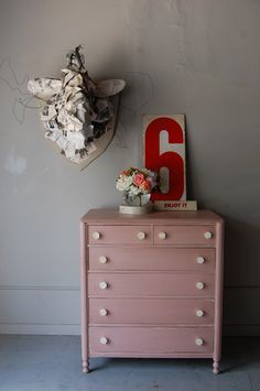 ~ image from Knack Studios' portfolio Someday Over The Rainbow, Pink Dresser, Pink Office, Girls Bedroom, Bedroom Ideas, Annie Sloan Chalk Paint, Everything Pink, My Favorite Color, Household Items