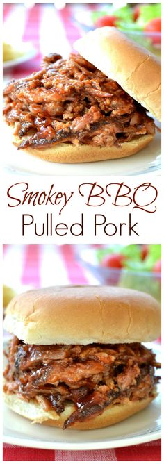 This BBQ pulled pork is super moist and bursting with flavor, with a hint of smokiness. Perfect for summer BBQ's.