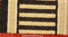 Bordure pour moquettes wilton collections Brighton et Harlequin - Bordure modéle: Lignes - Col: Black