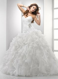Strapless Neckline Ball Gown Wedding Dresses