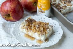 Low Carb Apple Cheesecake Bars