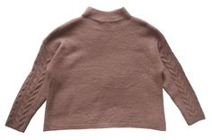 MARKS & SPENCER COLLECTION Textured Cable Arm Funnel Neck Blush Pink Jumper T38/6583.  UK24 EUR52  MRRP: £35.00GBP - AVI Price: £19.99GBP
