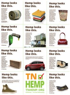 "A look at the viral ""Hemp Looks Like This"" campaign originated by the THO. #tnleg #tnhemp"