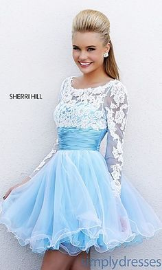Short Babydoll Dress with Long Sleeves