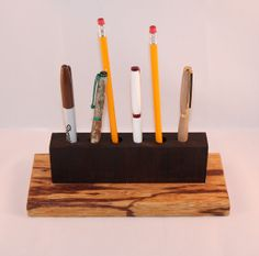 Handmade Marblewood and Indian Rosewood Pencil Holder by woodhut, $30.00