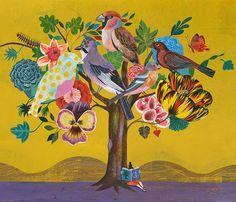 {Olaf Hajek, Illustrator} Illustration for Recycle Bags for Carrefour Supermarkets in Spain Art And Illustration, Olaf, Kunst Online, Online Art, Arte Latina, Illustrator, Arte Popular, Arte Floral, Bird Art