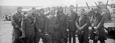 A group photograph of pilots of 'A' Flight, No. 4 Squadron, Australian Flying Corps, Clairmarais, June 1918