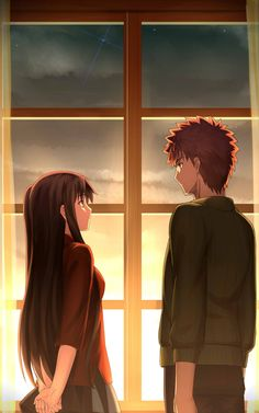 Rin and Shirou - Fate