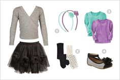 Cool modern holiday outfit idea for kids:  Combo of splurges and big bargains
