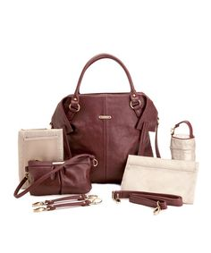 Take a look at this Burgundy Charlie Diaper Bag by timi & leslie on #zulily today! $109.99, regular 160.00