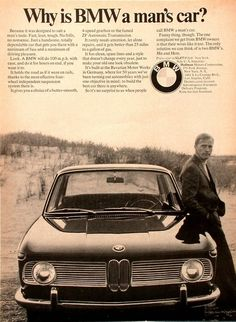 "Vintage Ad: ""Why is BMW a man's car?"""