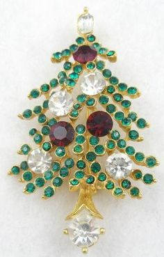 Lisner Christmas Tree Brooch