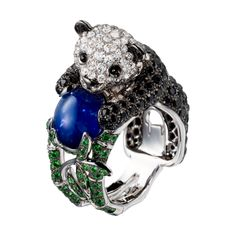 """The docile panda has long been celebrated as one of nature's sweetest, silliest creations. This ring is called the  """"Biladom ring"""" after the Tibetan word for Panda bear."""