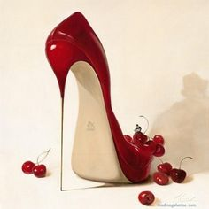 heels, red, shoes, woow - inspiring