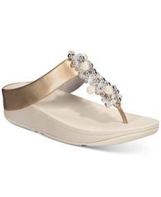 077fbf54a0f2 FitFlop Deco Flip-Flop Sandals - Black 5M