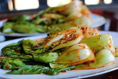 The Church Cook: Baby Bok Choy Kimchee Spicy Recipes, Asian Recipes, Cooking Recipes, Healthy Recipes, Asian Foods, What's Cooking, Delicious Recipes, Vegan Korean Food, Asian Appetizers