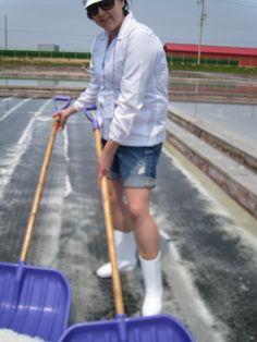 Farming Salt in Docho, South Korea.