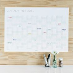 Make 2014 your year with this stylish Wall Planner.