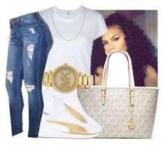 A fashion look from September 2016 featuring RE/DONE t-shirts, Puma sneakers and Michael Kors watches. Browse and shop related looks. Chill Outfits, Dope Outfits, Swag Outfits, Summer Outfits, Casual Outfits, Teen Fashion, Fashion Shoes, Fashion Outfits, Fashion Trends