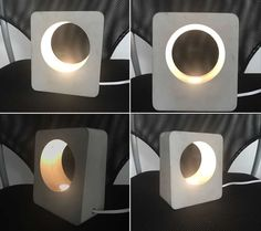 Handmade Concrete LED Night Light Lamp