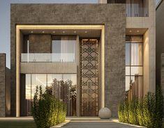 Modern Luxury Bathroom on Behance Modern Exterior House Designs, Best Modern House Design, Classic House Design, Modern House Facades, Modern Villa Design, Bungalow House Design, House Front Design, Dream House Exterior, Exterior Design