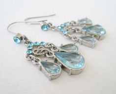 Vintage Art Nouveau Hollywood Regency Topaz Chandelier Earrings by ThePaisleyUnicorn, $3.00