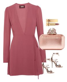 """Rose gold"" by mamzelleyaa-05 ❤ liked on Polyvore featuring Reformation, Jimmy Choo and Yves Saint Laurent"