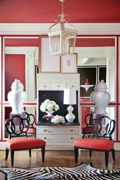 Those gorgeous white vases! MUST HAVE... interior design - Tobi Fairley