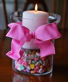 Easy, Simple and Cute centerpiece for valentines day