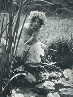 (Photo by Constant Puyo, Im Schilf, 1903) / 'I have only one name for all,and it is love.' - Edith Sodergran