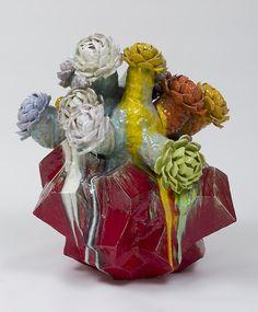 Matt Wedel, Flower tree, ceramic, 38 x 34 x 35 in. Organic Ceramics, Reading Art, Artistic Installation, Ceramic Techniques, Contemporary Ceramics, Flowering Trees, Ceramic Artists, Art Plastique, Magazine Art
