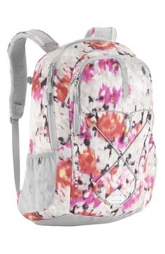 The North Face 'Jester' Backpack in violet pink floral silver available at #Nordstrom