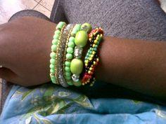 Geen #Accessories #BeadedCuff #Beads #ArmCandy
