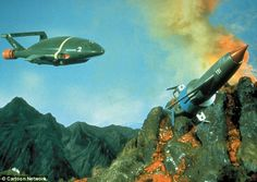 Update: The original rockets from the 1960s version of the show. Thunderbird 2 was piloted...
