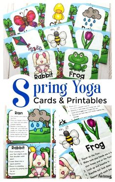 These spring yoga cards and printables will get preschoolers thinking about getting outside and moving! Great yoga poses for kids-beginner to expert yogi! Fun activities to add some gross motor into the day. Perfect for preschool, kindergarten and up! Gross Motor Activities, Spring Activities, Therapy Activities, Infant Activities, Therapy Ideas, Preschool Yoga, Preschool Activities, Preschool Kindergarten, Movement Preschool