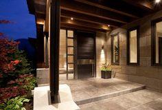 moderne Architektur-Gestaltung der Terrasse